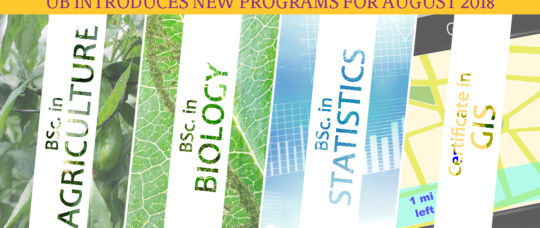 UB introduces New Programs in Agriculture, Biology, Statistics and ...